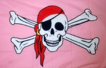 PINK PIRATE - 5 X 3 FLAG